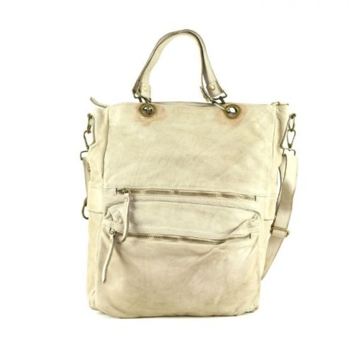 GINEVRA 2in1 Shopper/Crossbody Bag Beige