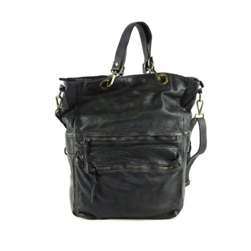 GINEVRA 2in1 Shopper/Crossbody Bag Black