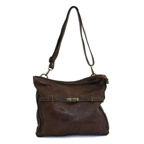 MIRIAM Crossbody Bag With Locket Dark Brown