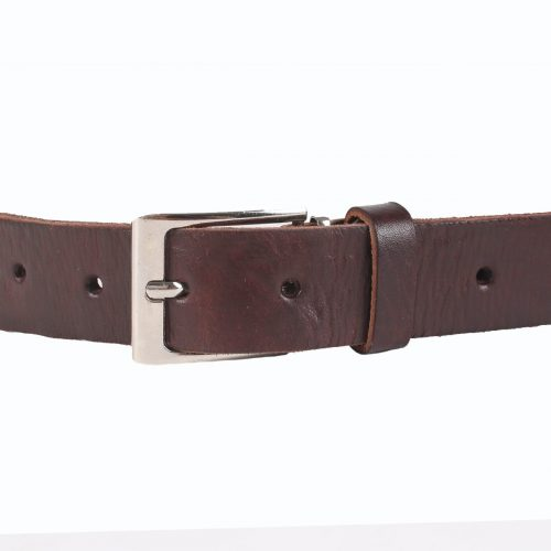 Jeans Leather Belt – Chocolate