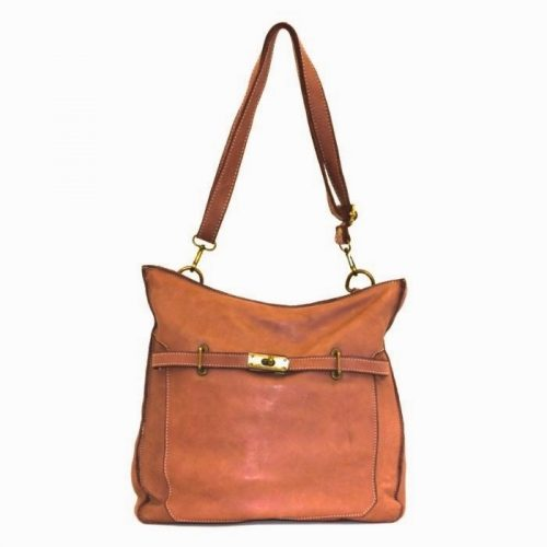 MIRIAM Crossbody Bag With Locket Tan
