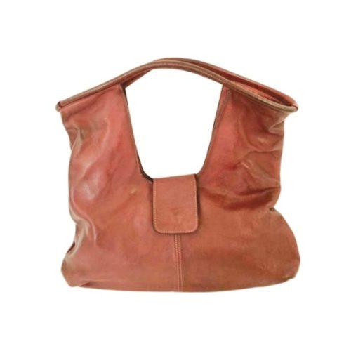 ALESSIA Square Shoulder Bag Terracotta