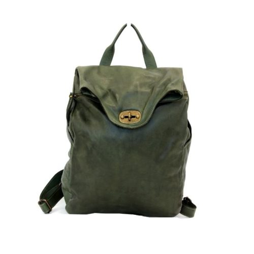 AURORA Backpack With Lock Army Green