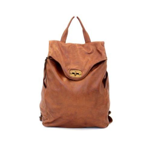 AURORA Backpack With Lock Tan