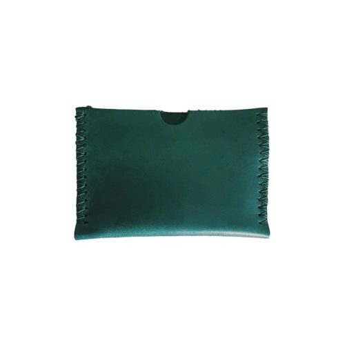 Leather Card Holder Forest Green