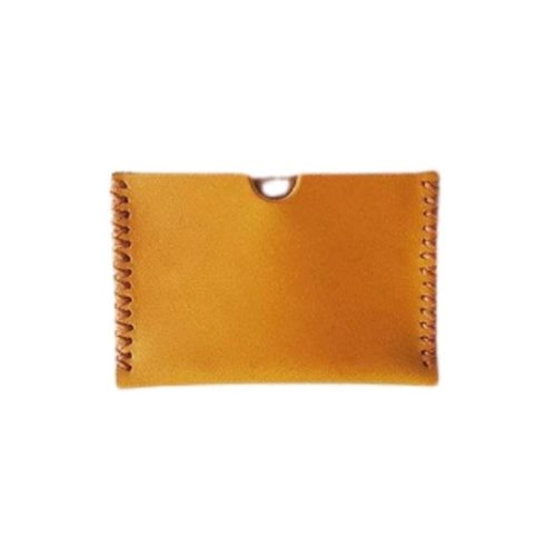 Leather Card Holder Mustard