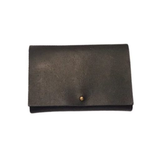 Leather Travel Wallet Black