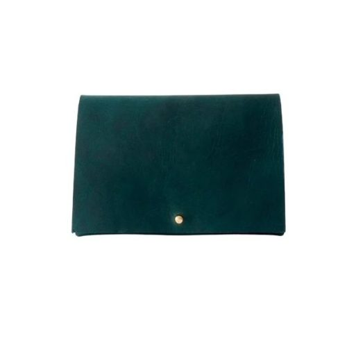 Leather Travel Wallet Forest Green