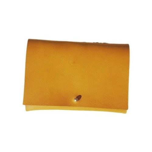 Leather Travel Wallet Mustard