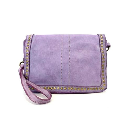 SILVINA Small Cross-body Bag With Studs Lilac