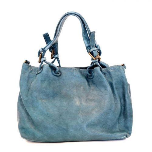 BABY LUCIA Small Tote Bag Smooth Teal