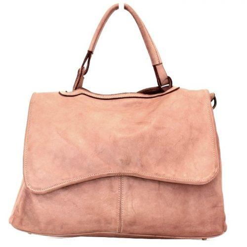 MIA Handbag With Curved Flap Blush