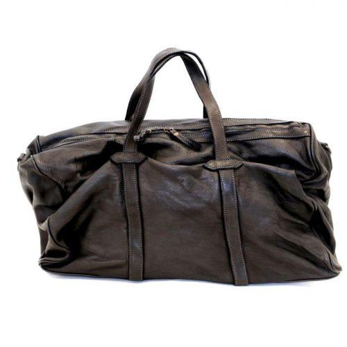 GAIA Leather Travel Bag Black