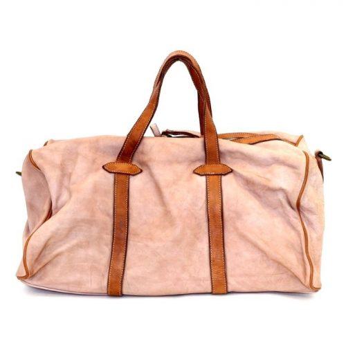GAIA Leather Travel Bag Blush