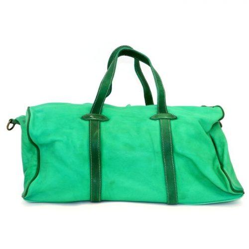 GAIA Leather Travel Bag Emerald Green