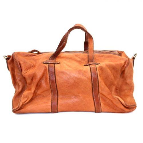 GAIA Leather Travel Bag Terracotta