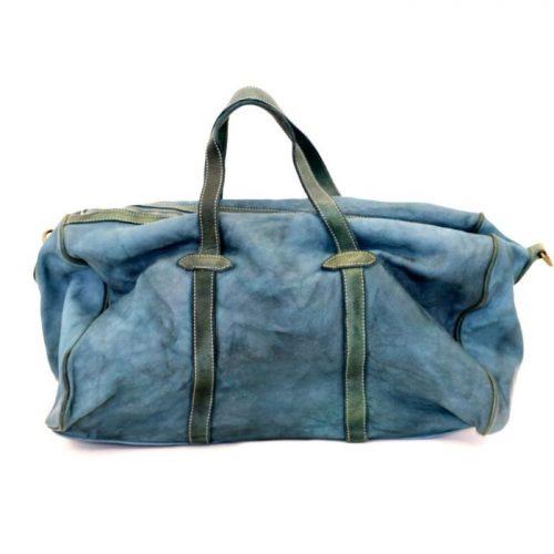 GAIA Leather Travel Bag Teal