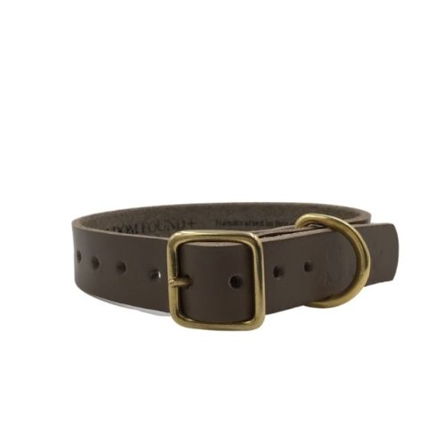 Artisan Leather Dog Collar Greige
