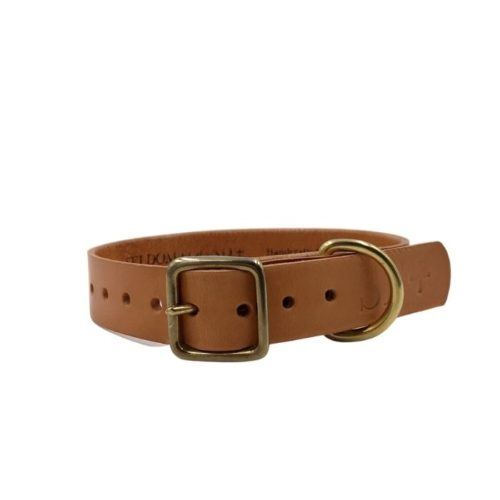 Artisan Leather Dog Collar Natural