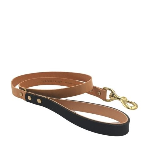 Artisan Leather Dog Lead Black