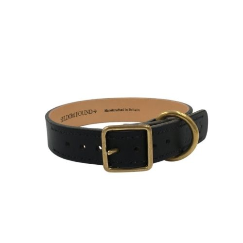 Artisan Leather Lined Collar Black