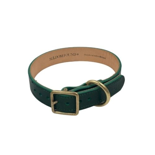 Artisan Leather Lined Collar Forest Green