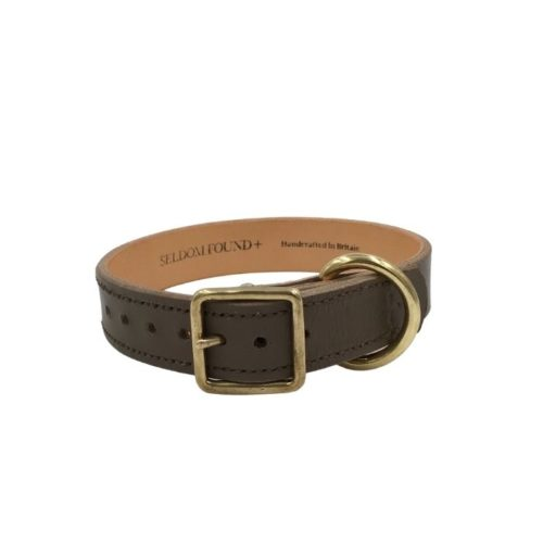 Artisan Leather Lined Collar Greige