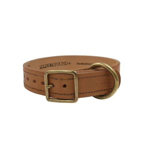 Artisan Leather Lined Collar Natural