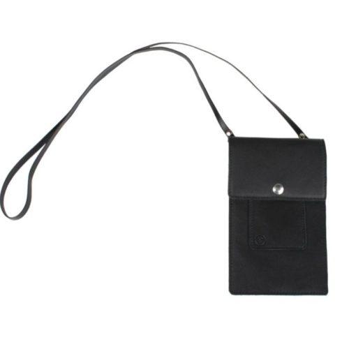 Leather Phone Bag Black