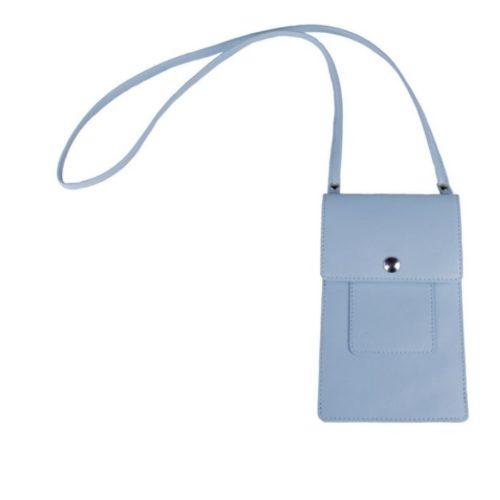 Leather Phone Bag Powder Blue