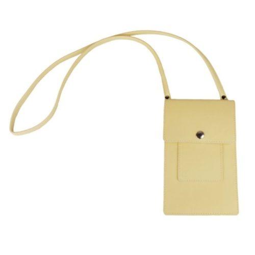 Leather Phone Bag Custard