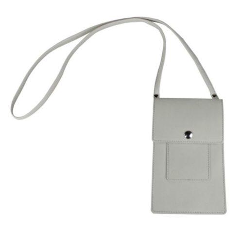 Leather Phone Bag Ivory
