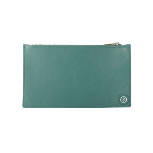 Leather Pouch Sea Green