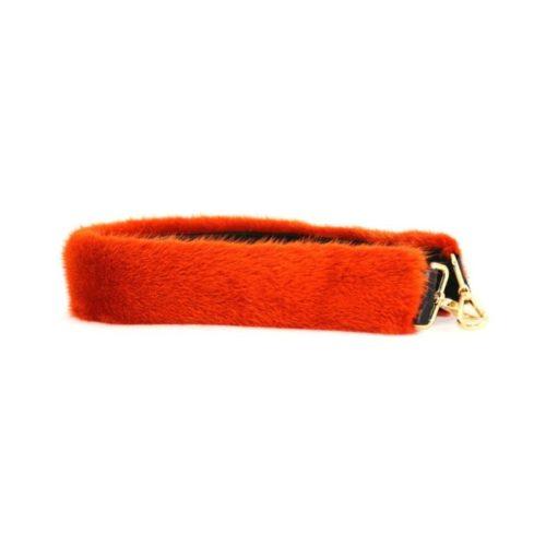 Fur Shoulder Strap Orange