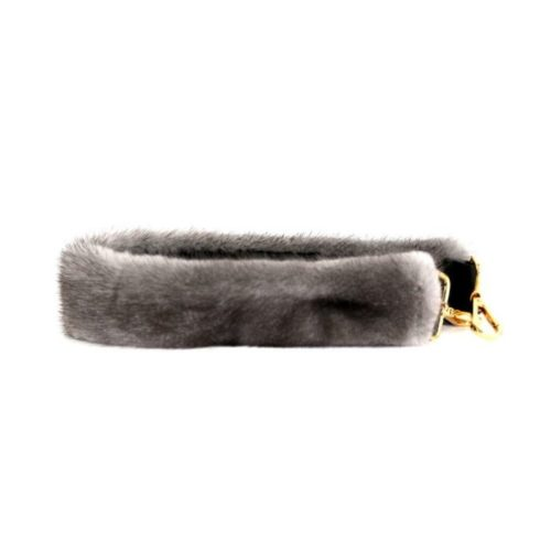 Fur Shoulder Strap Light Grey