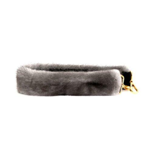 Fur Shoulder Strap Light Grey