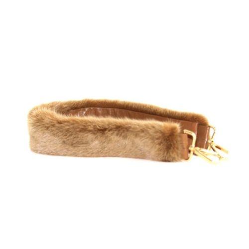 Fur Shoulder Strap Light Taupe