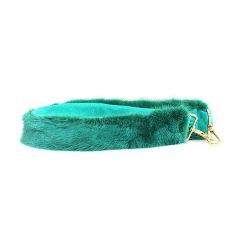Fur Shoulder Strap Turquoise