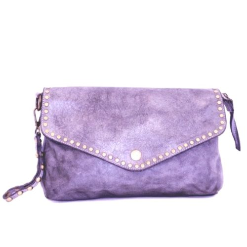 LAVINIA Studded Clutch Bag Lilac