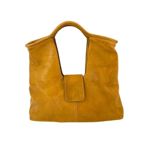 ALESSIA Square Shoulder Bag Mustard