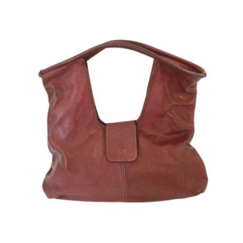 ALESSIA Square Shoulder Bag Burgundy