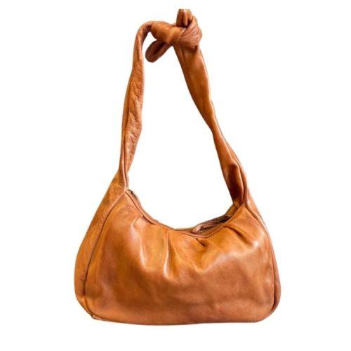 RITA Knot Vintage Style Shoulder Bag Tan