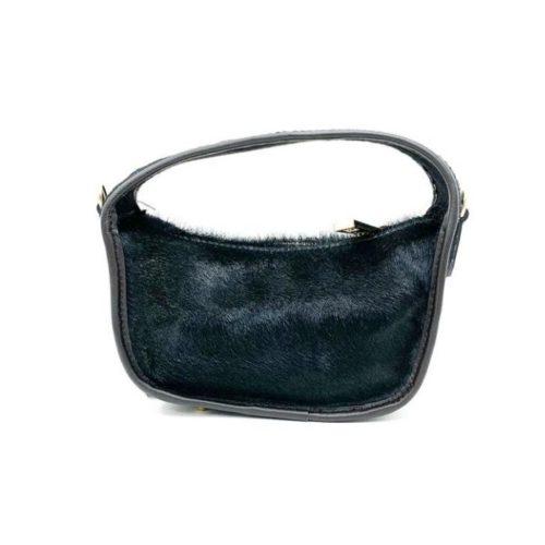 TIFFY Pony Hair Small Hand Bag Black