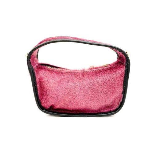 TIFFY Pony Hair Small Hand Bag Blush