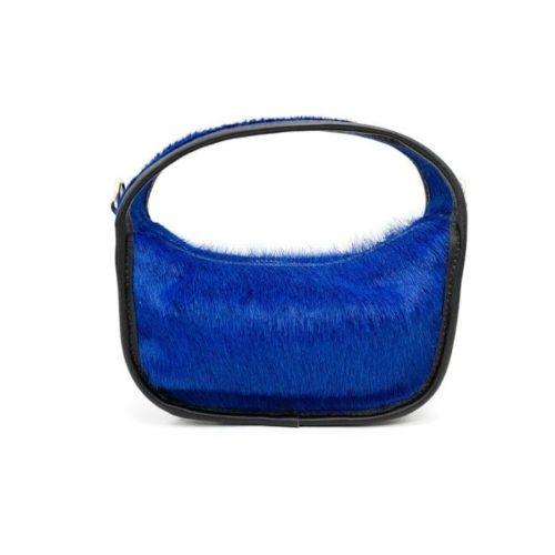 TIFFY Pony Hair Small Hand Bag Blue