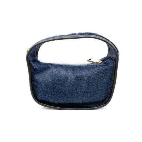 TIFFY Pony Hair Small Hand Bag Dark Grey