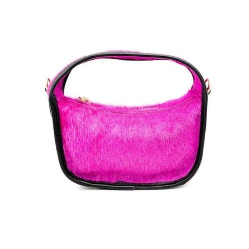 TIFFY Pony Hair Small Hand Bag Fuchsia