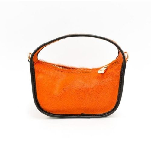 TIFFY Pony Hair Small Hand Bag Orange