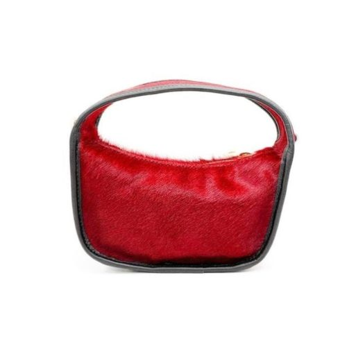 TIFFY Pony Hair Small Hand Bag Red