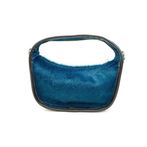 TIFFY Pony Hair Small Hand Bag Teal